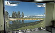 Golf-Simulator-schlagfeste-Leinwand
