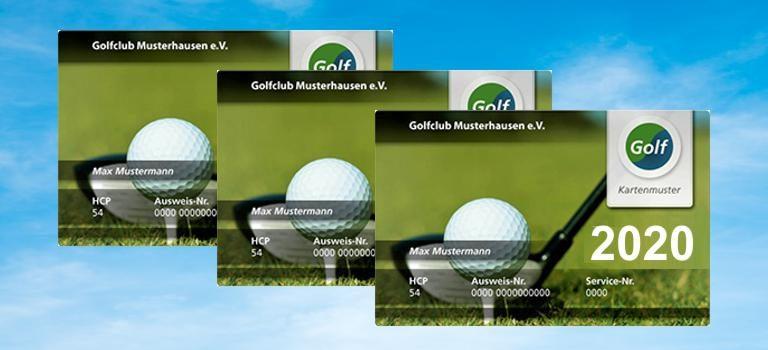 Golf Fernmitgliedschaft Ausweise 2020